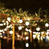 La stringa del globo illumina l'indicatore luminoso esterno dell'interno della stringa del patio del collegare nero delle lampadine del globo allungabile
