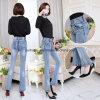 Pantaloni lunghi sottili delle signore dei jeans della parte inferiore di Bell delle donne di alta qualità