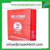 Bolsa de papel impermeable roja modificada para requisitos particulares lujo del documento con insignia