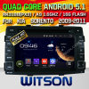 Carro DVD do Android 5.1 de Witson para KIA Sorento 2009-2011 (W2-A7042) com sustentação do Internet DVR da ROM WiFi 3G do chipset 1080P 8g
