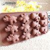 Прессформа шоколада безопасной нетоксической непахучей еды жары ровно резиновый