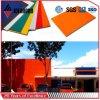 Panneau en aluminium orange de décoration de mur de PVDF diplômée par GV (AF-380)