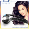 Ferro de ondulação portátil do cabelo da visualização óptica do LCD do encrespador de cabelo