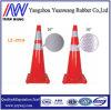 Cone da segurança de estrada do tráfego do PVC do amarelo alaranjado da cor da fábrica de China