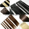 Grampo Human Hair Extensions com Silky Straight Hair brasileiro Weaving