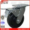 5X2 schwarze pp. Hochleistungsschwenker-Fußrolle mit doppelter Bremse