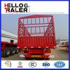 3 محور العجلة 45 طن سياج شحن مقطورة