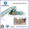 Máquina horizontal automática hidráulica de la prensa del papel usado con el transportador