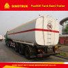 semi-remorque de camion-citerne aspirateur d'essence de camion de réservoir de stockage de pétrole de l'essieu 40m3 3
