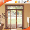 La porte articulée personnalisée en bois solide de taille, interruption thermique des Etats-Unis en aluminium choisissent la porte articulée pour la Chambre à extrémité élevé