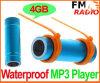 Giocatore di MP3 di sport di nuoto con la radio di FM (WS-01)