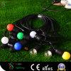 Luz de hadas de la correa de la cadena de la Navidad del LED con el cable redondo del PVC