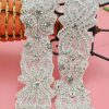 Beaded Crystal Applique、Wedding Bridal SashのためのRhinestone Applique Trimmingの卸し売りIron