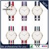 Relógio de nylon dos esportes unisex novos do relógio do aço inoxidável da chegada (DC-451)