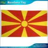 Bandeira nacional de Macedónia da bandeira macedónia do poliéster com os dois ilhós de bronze (J-NF01F03365)