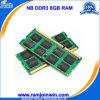 Компьтер-книжка 8GB Ecc 1600MHz PC3-12800 DDR3 RAM Ett Chips Non