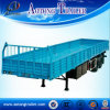 Semi Aanhangwagen van de Vrachtwagen van de Zijgevel van de tri-as Flatbed Open
