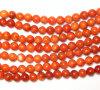 Granos rojos redondos del coral de la esponja de la joyería de la manera Xg-Be126