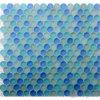 Mosaico glassato blu rotondo di cristallo del raggruppamento
