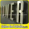 Alameda de compras del OEM Customed que hace publicidad de insignia del acero inoxidable del diseño de la muestra de la letra