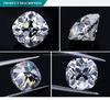 工場最もよい価格の古いヨーロッパのダイヤモンドのクッションはMoissaniteの1個の白いダイヤモンドを永久に切った