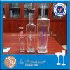 frasco de vidro da vodca da alta qualidade do quadrado da garrafa 750ml