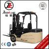 Forklift elétrico da roda do contrapeso três de China na venda