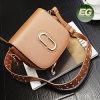 상록 최신 디자인 여자 부대 고품질 가죽 핸드백에 의하여 장식용 목을 박는 긴 결박 운반물 메신저 어깨에 매는 가방 Sy8297