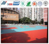 Campo da pallacanestro resiliente di rimbalzo di gomma della struttura di colore della sabbia