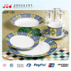 Plaques de dîner en bloc remplaçables de coutume de porcelaine en gros d'OEM
