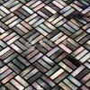 Mattonelle di mosaico di marmo madreperlacee di vendita di colore giallo dell'orlo delle coperture calde del Mop per la parete della decorazione