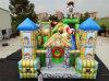 Ville gonflable d'amusement de dessin animé géant/stationnement gonflable de gosses