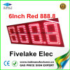 étalage de signe de commutateur de prix du gaz de 8inch DEL (NL-TT20F-2R-DR-4D-RED)