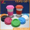 Tampa feita sob encomenda do copo de café do silicone do produto comestível