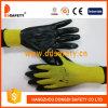 Ddsafety 2017 13 перчаток покрытия нитрила черноты раковины датчика желтых Nylon