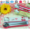 TravelingのためのカートンKitty Shaped Chopsticks Metal Storage Box