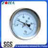 Tipo termômetro bimetálico da montagem da tubulação com mola