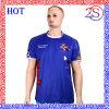 T-shirt rond profond d'hommes de collet de vêtements de sport de Subliamtion