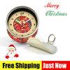 El reloj del estaño de Digitaces de la Feliz Navidad, puede reloj promocional redondo de la poder de pared del reloj del metal del vector magnético del escritorio