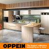 Da forma contemporânea da melamina T da cereja de Oppein armários de cozinha modulares (OP15-053)