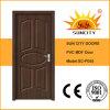 上の販売のクラシックのフラッシュクルミカラーMDF PVCドア(SC-P055)