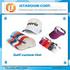 Gancho de leva de encargo al por mayor y mujeres ajustadas bucle de los hombres del sombrero de la pelota de golf de Sun del visera de los deportes del color y del diseño de la mezcla de la gorra de béisbol de los sombreros