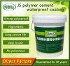 Material impermeável da parede dos revestimentos do poliuretano verde do polímero