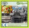 Cadena de producción anaranjada del zumo de manzana