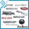Divisas modificadas para requisitos particulares del coche de la etiqueta engomada del ABS del cromo 3D de la cinta de los 3m