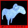Indicatore luminoso di menzogne illuminato acrilico Animated esterno della capra di natale del LED (OB-CL-0420327)