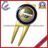 Matt Gold Plated Golf Divot Tool con Magnetic Ball Marker