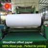 Papel 100% de imprenta sin recubrimiento de Woodfree