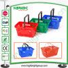 Solo Handle Plastic Shopping Basket para Supermarket