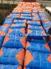 Tela incatramata blu/arancione del PE Tarps/Poly della plastica Tarpaulin/Finished